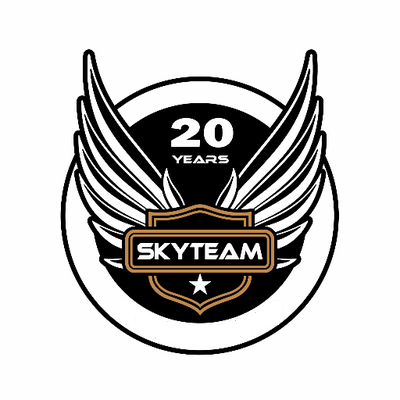 SkyTeam 20th anniversary logo